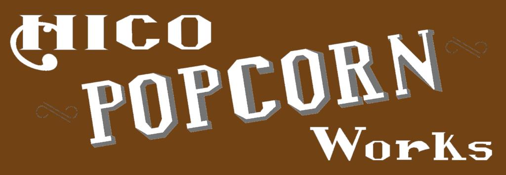 Hico Popcorn Works Logo - sepia